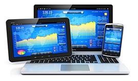 Plattform für Handeln und App-Trading.